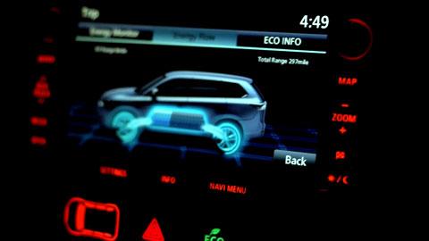 Mitsubishi Outlander PHEV Dash